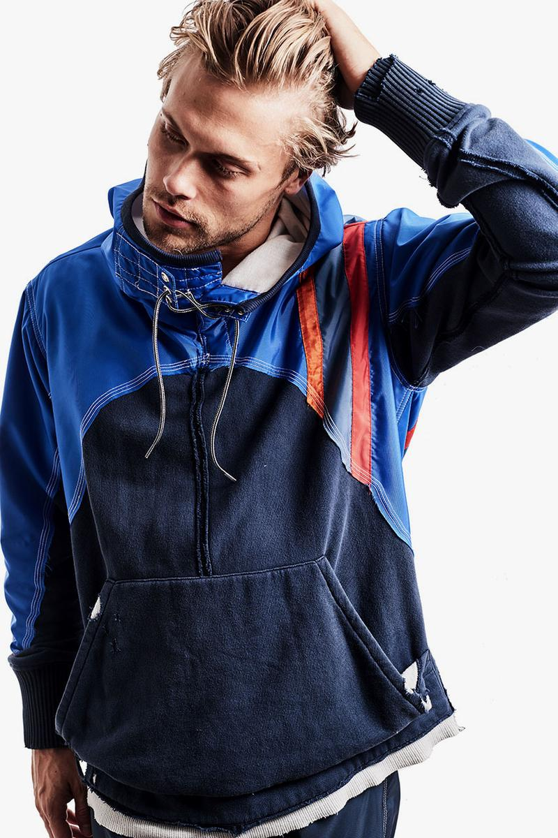 Birdwell Greg Lauren Capsule Collection Spring Summer 2019 SS19 50/50 Split Clothing Jackets Denim Trucker Sweatpants track pants shirt robe