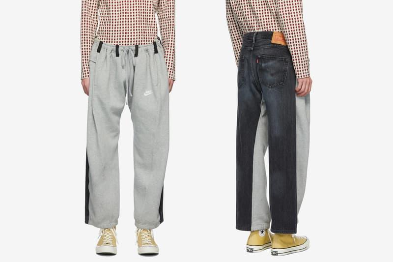 Bless SSENSE Exclusive Overjoggingjeans Lounge Pants Release Grey Black Denim Nike Levis sweats sweatpants jeans fleece cotton