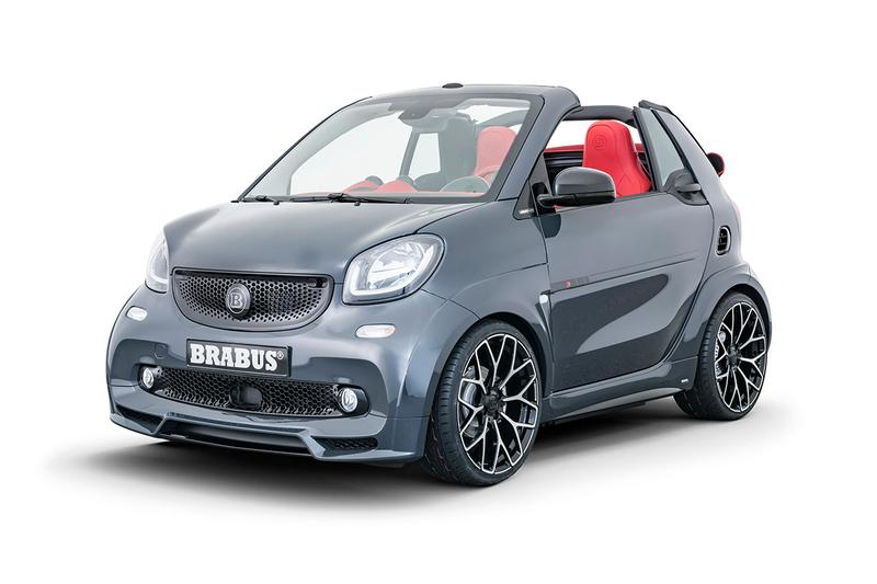 BRABUS ultimate e shadow edition limited 28 number performance tuned electric car limited EQ fortwo cabrio smart car release information details specs