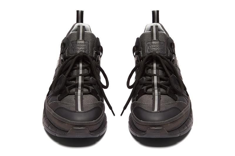 Burberry RS5 Sneaker Canvas Panel Chunky Trekking Dad Shoe Triple Black Colorway Soon Release
