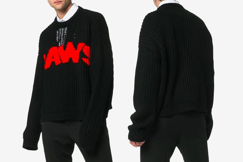 Calvin Klein 205W39NYC Jaws Knitted Sweater Release Black Red Raf Simons acrylic release date drop info buy spring summer 2019