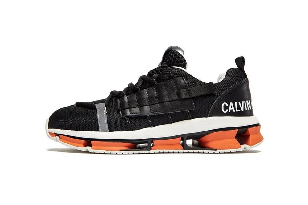 calvin klein jeans lex sneaker trainer black orange colorway release