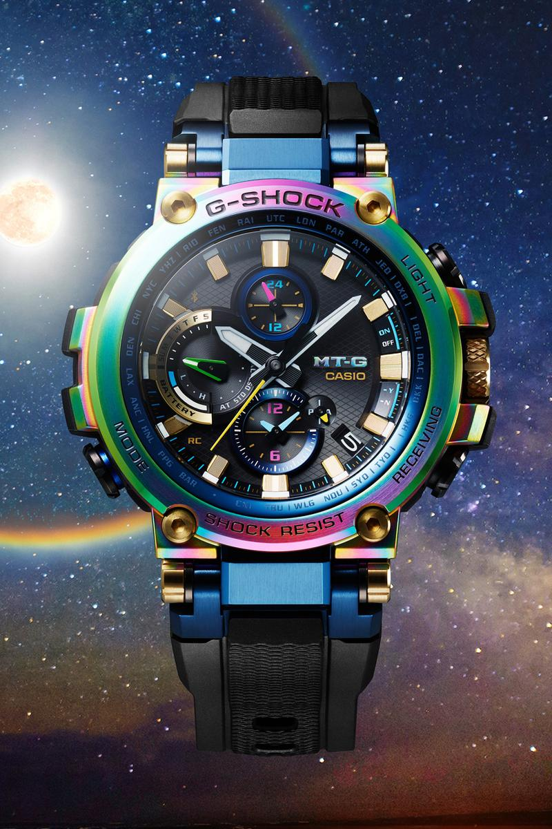 Casio G-SHOCK MT-G Rainbow Baselworld 2019 Reveal Colorful Chronograph