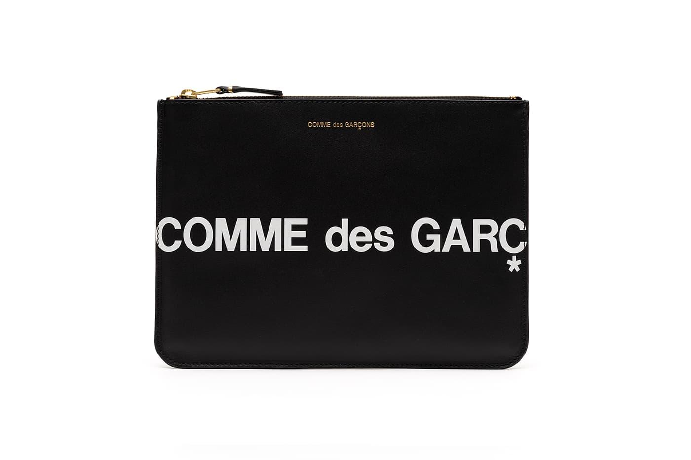 """COMME des GARÇONS Preps Barbara Kruger-Esque """"Huge Logo"""" Wallets"""