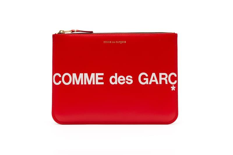 COMME des GARÇONS Red Black Logo Wallets Release info drop date I.T rei kawakubo dover street market CDG huge logo collection supreme