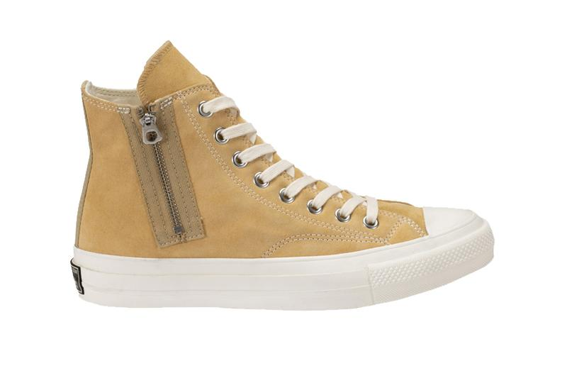 Nigo human made Converse japan Addict Chuck Taylor all star Zip zipper  Beige Suede tan 60 64601aecb9