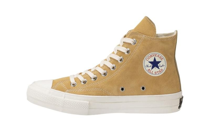 Nigo human made Converse japan Addict Chuck Taylor all star Zip zipper Beige Suede tan 60 60s 1960 1960s basketball players name tag