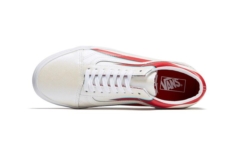 David Bowie Vans Sneaker Collection Vans era ziggy stardust slip-on 47 V dx old skool era release date info space oddity lightning bolt Hunky Dory fuzzy suede