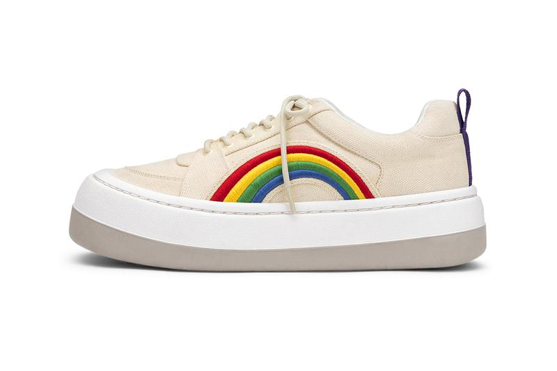 Eytys Sonic SIlhouette Sneaker chunky 90s inspired dad swedish footwear rainbow detail release information news buy cop purchase