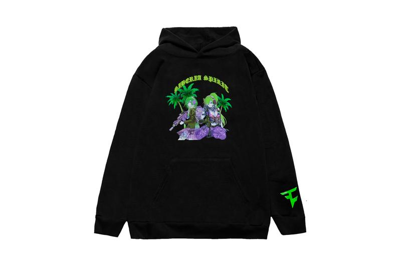 FaZe Clan Siberia Hills Hoodie Release Black Green Anime Call of Duty Spirit
