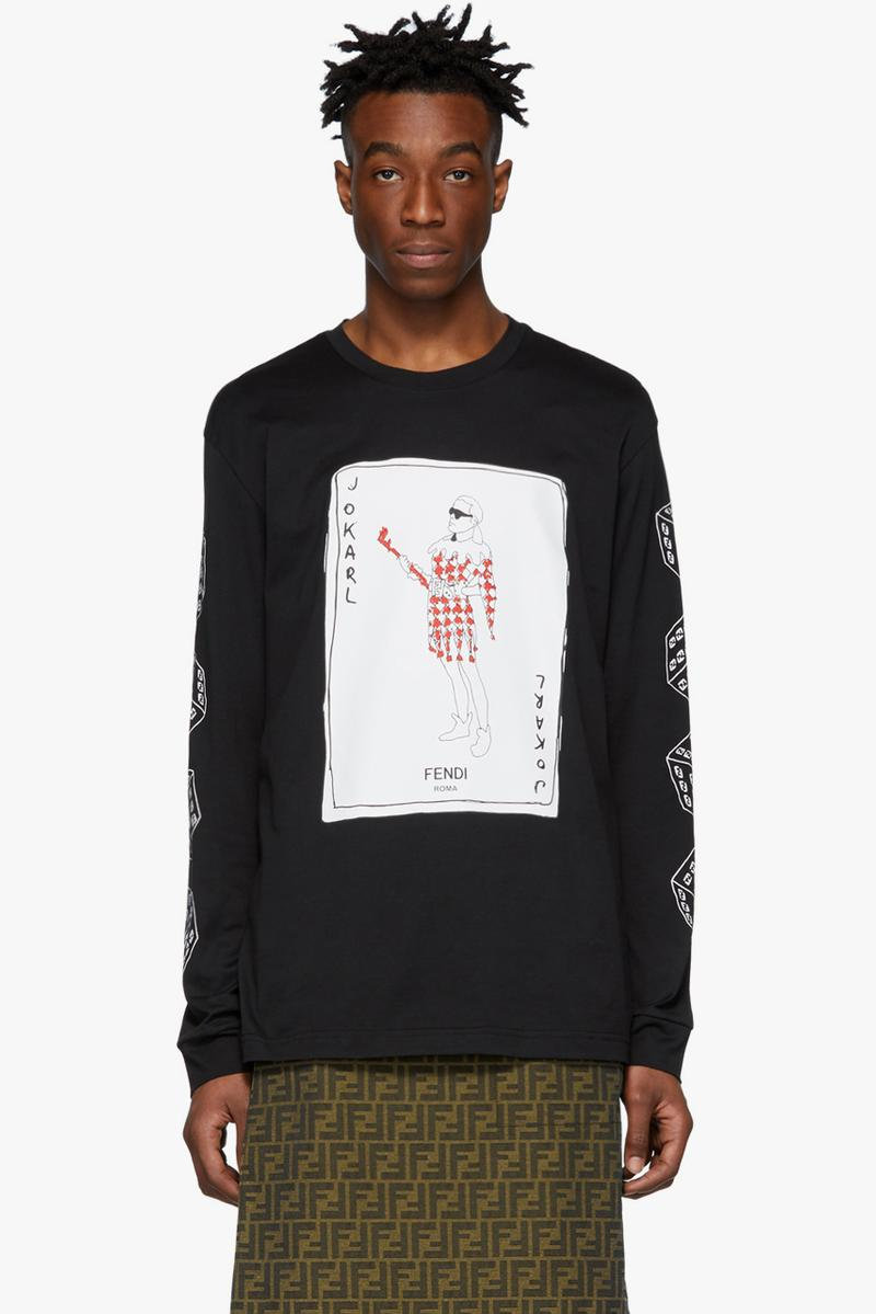 fendi jokarl graphic tshirt tee joker card spring summer 2019