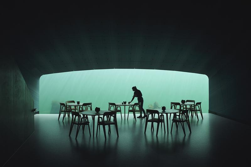 Snohette Underwater Under Restaurant Norway Visit Eat Reserve Details First Look Completed Inside Architecture Design