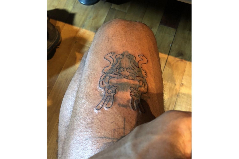 Frank Ocean's Matt Groening Homo vs Hetero Tattoo