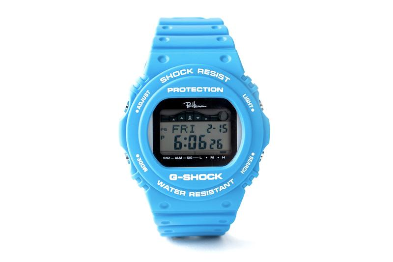 G-Shock Casio GWX-5700CS- 1 JF Ron Herman Japan Cyan Blue Watch Shock Resist Water Resistant Protection Digital Tide Table Graph