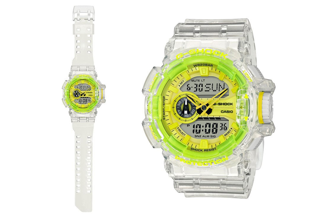 G-SHOCK casio timepiece watch drop release date info buy 90s see through transparent GA-400SK-1A4JF GA-400SK-1A9JF GA-700SK-1AJF DW-6900SK-1JF DW-5600SK-1JF