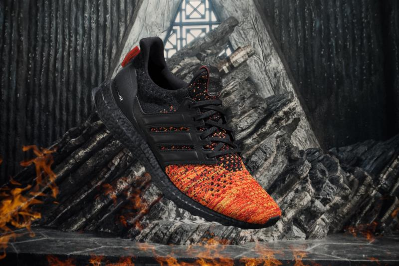 Game of thrones adidas ultraboost full collection House Lannister Stark Targaryen Dragons White Walkers Night's Watch Sneaker footwear HBO Release Details Buy Purchase Cop Online