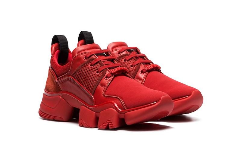givenchy red jaw neoprene leather sneakers spring 2019  brownsfashion