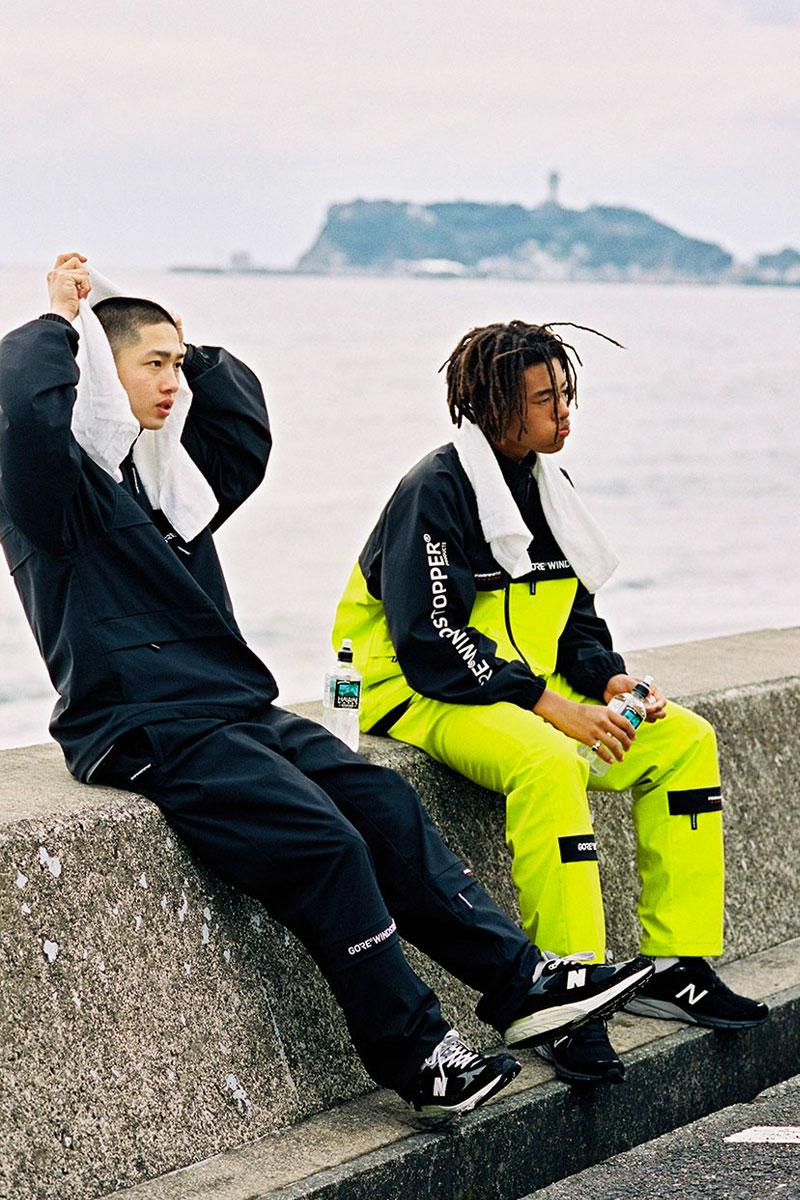 Gore-Tex thisisneverthat WINDSTOPPER Collection Black Neon Yellow Jacket Pant T shirt