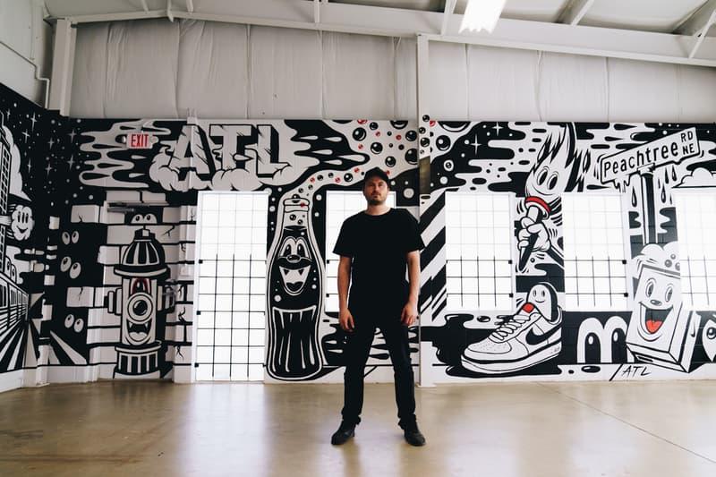 greg mike nike snkrs atlanta mural installation popup