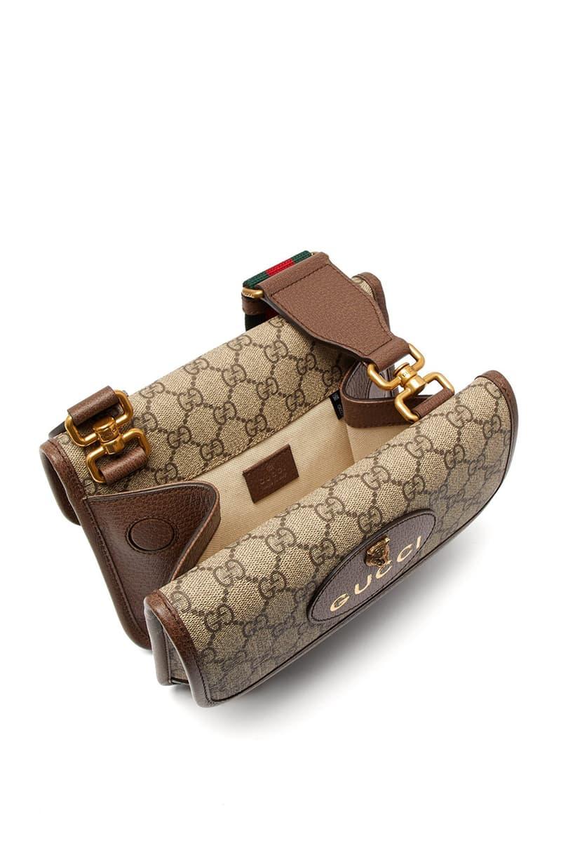 Gucci Spring/Summer 2019 Supreme Messenger Bag GG logo print canvas strap price buy sale
