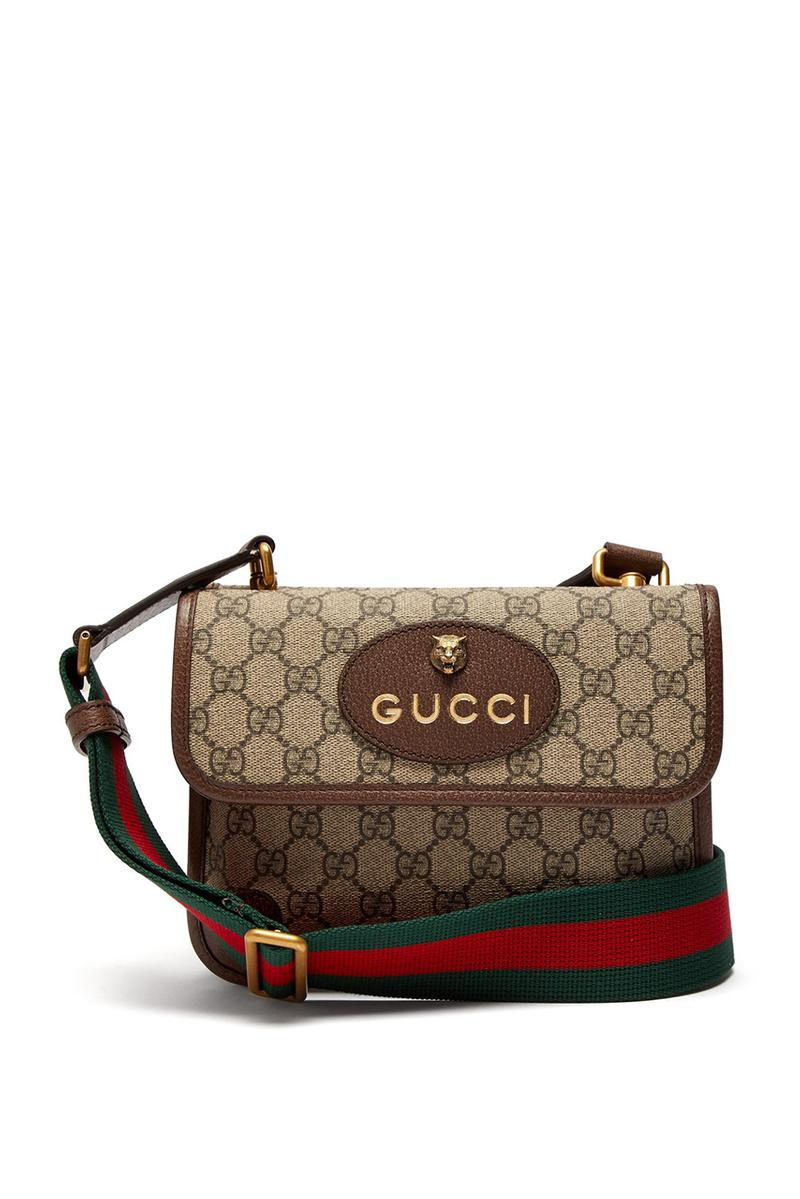 56e0abd5641 Gucci Spring Summer 2019 Supreme Messenger Bag GG logo print canvas strap  price buy sale