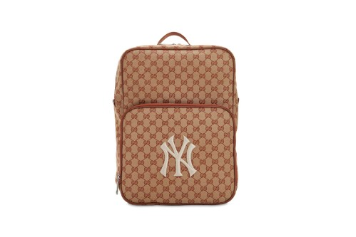 Gucci GG Supreme Backpack Brings Back NY Yankees Logo