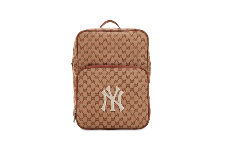 9112faf2d Gucci GG Supreme Backpack Brings Back NY Yankees Logo