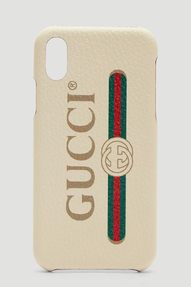 Gucci Logo iPhone X Case Release Cream Retro