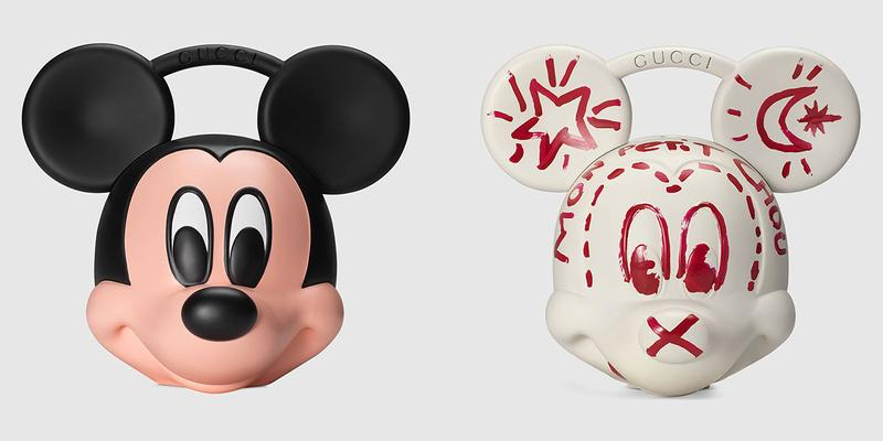 Gucci x Disney Mickey Mouse 3D Printed Plastic Bag case spring summer 2019 release collection runway ss19 paint head