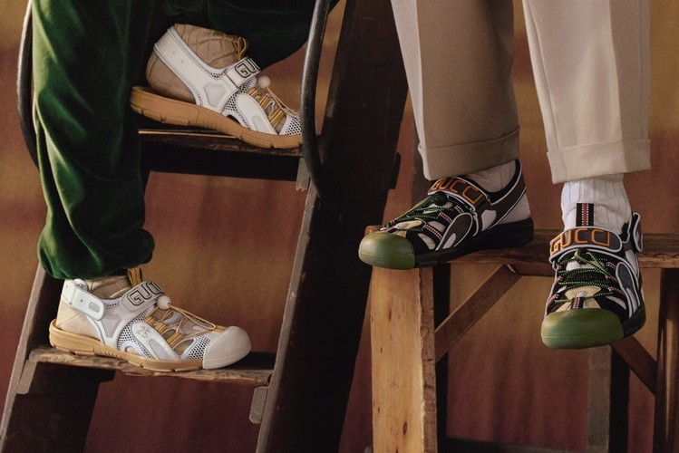 94015b387bb Gucci Fuses Its Flashtrek Sneaker With a Chunky Sandal for SS19