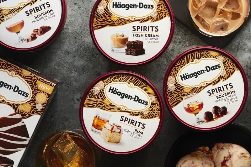 Häagen Dazs Alcohol Flavored Spirits Collection Release flavors ice cream dessert treat