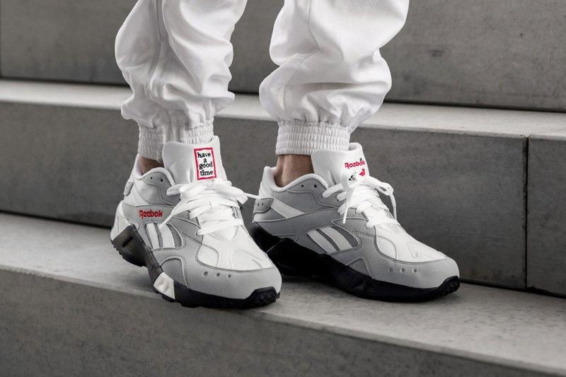have a good time x Reebok Aztrek Sneaker Collaboration COOL SHADOW COLD GREY DV6436 release date drop info buy april 12 2019
