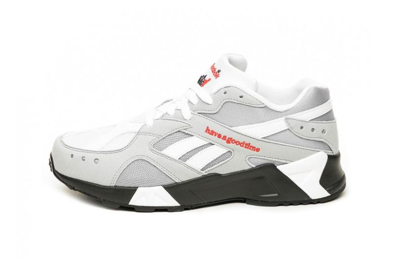 94e4deca62a5d3 have a good time x Reebok Aztrek Sneaker Collaboration COOL SHADOW COLD  GREY DV6436 release date