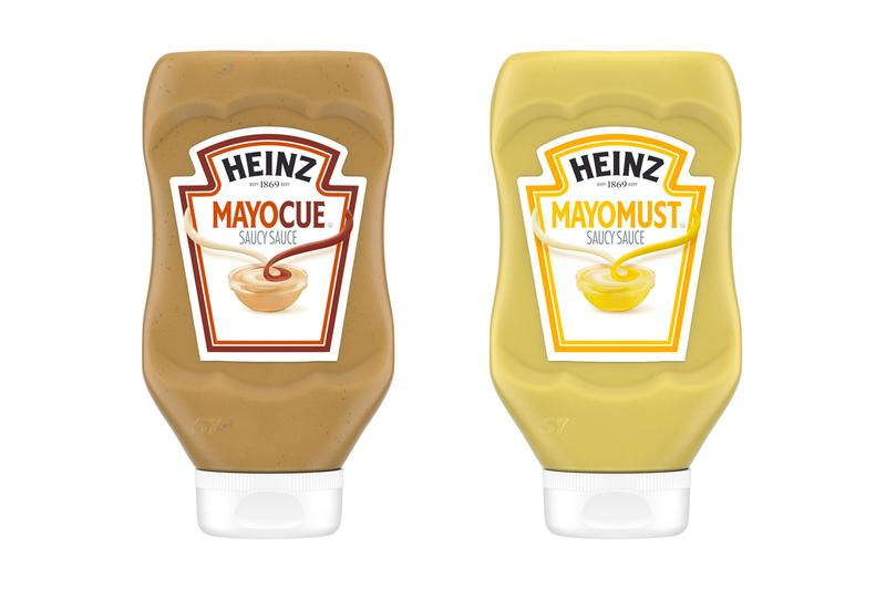 Heinz Releases Customer-Voted Condiments mayocue mayochup mayomust ketchup mustard mayonnaise mayo bbq barbecue sauce