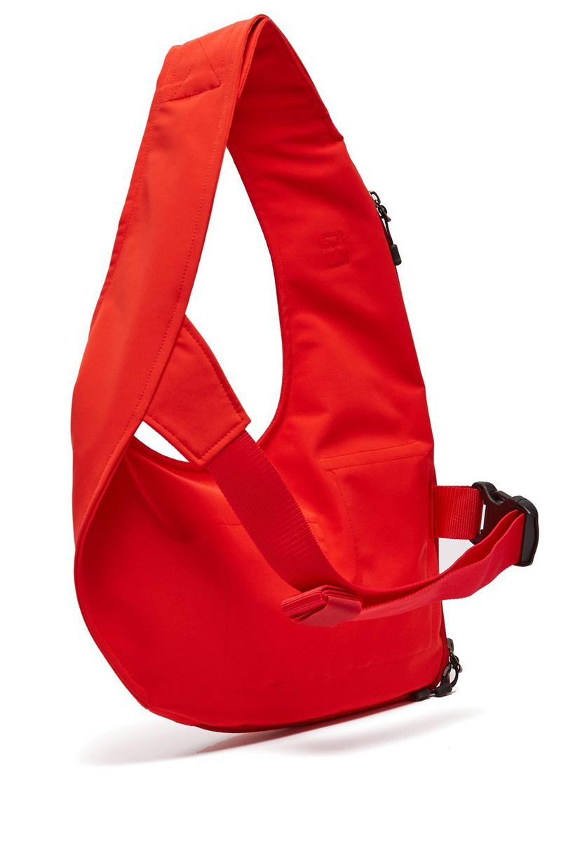 JUNYA WATANABE Technical harness Crossbody Bag Red Black polyester cotton Velcro shoulder strap matches fashion