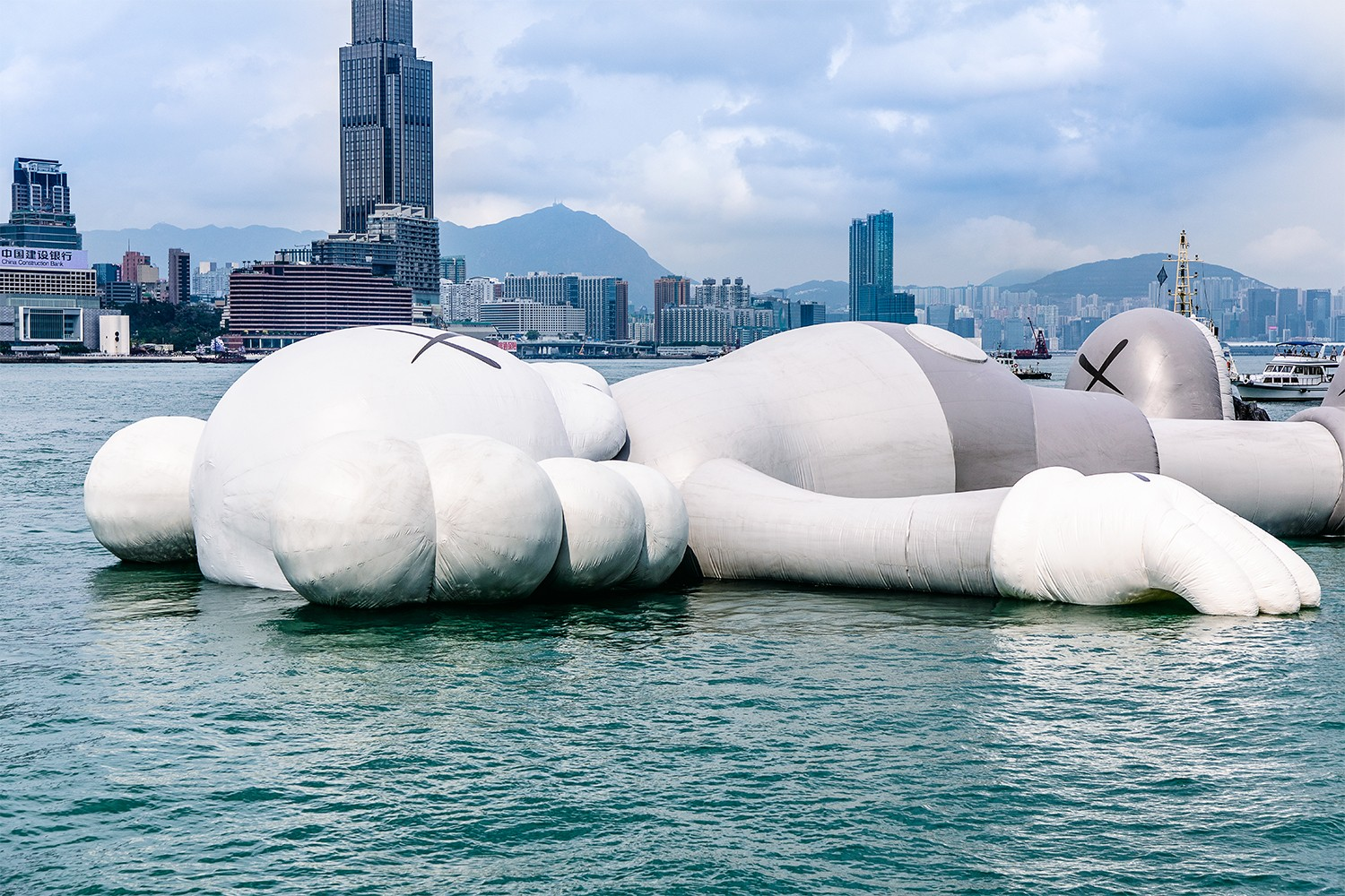 kaws holiday float installation allrightsreserved art basel hong kong