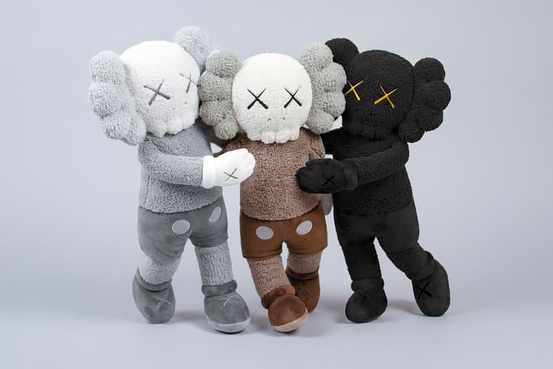 KAWS KAWS:HOLIDAY Plush Set Release Hong Kong Black White Brown Buy