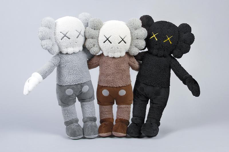 KAWS KAWS:HOLIDAY Plush Set Release Hong Kong Black White Brown Buy