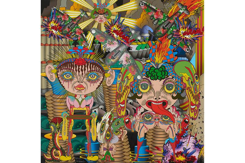keiichi tanaami the room of menace exhibition artworks paintings