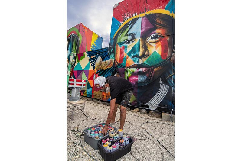 "Kobra Announces Debut Solo Show ""Kobra Larger Than Life"" painter artist gga gallery wynwood walls miami announcement"