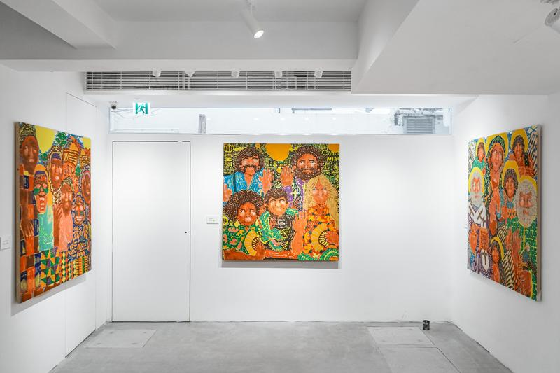 koichi sato ecstasy journey exhibition woaw store hong kong artworks paintings portraits art artists