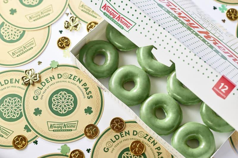 Krispy Kreme Green Doughnuts St. Patrick's Day