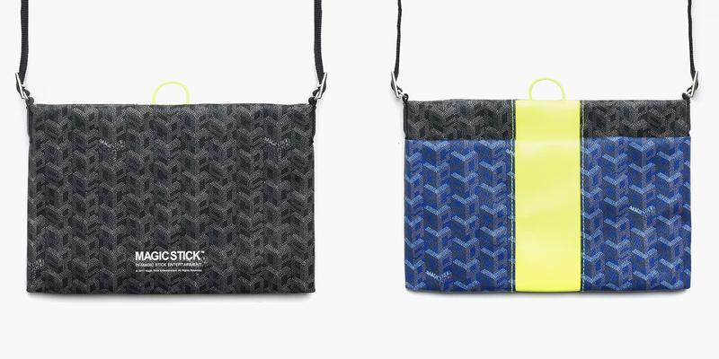 Magic Stick Luxe Sacoche Goyard Parody Print pattern spring summer 2019 ss19 bag tote shoulder