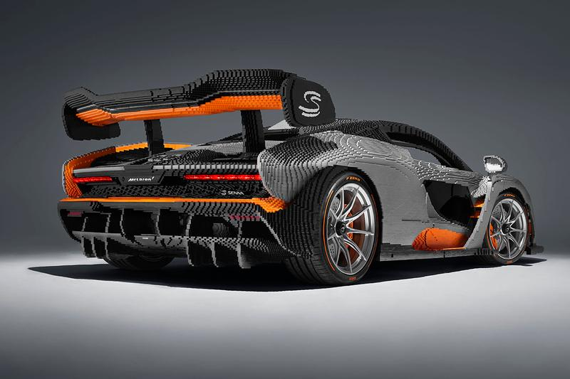 McLaren Senna Lego Full Size Model 1:1 5000 Hours Interactive Engine Seats Steering Wheel 3,348lbs Lifelike recreation first look design automotive