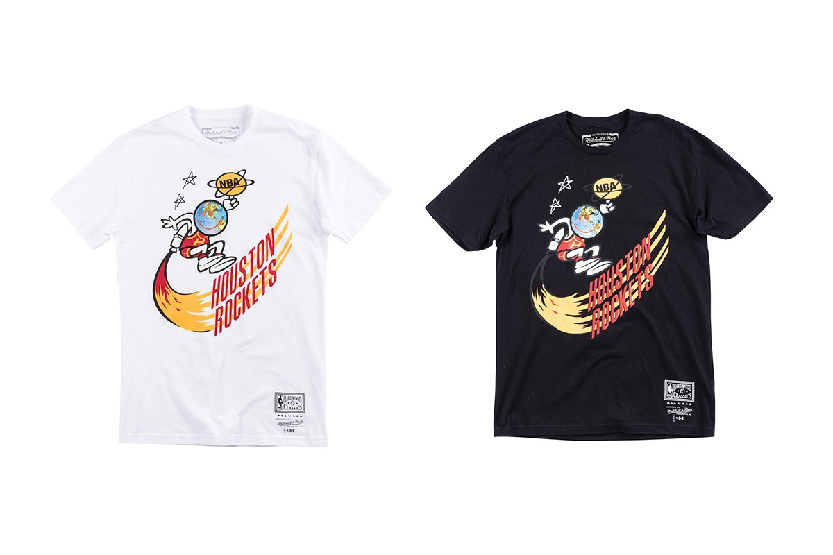 Mitchell & Ness Bleacher Report NBA Remix Campaign Travis Scott Houston Rockets Astroworld Cactus Jack Records T shirt Jersey