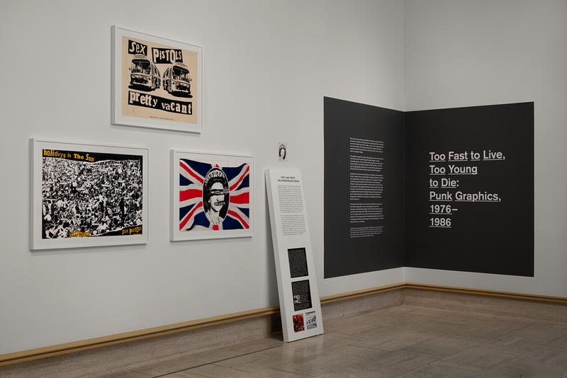 museum of arts and design too fast to live too young to die punk graphics artworks posters illustrations malcolm garrett peter saville