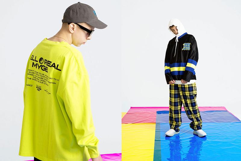 MYGE SS19 Spring Summer 2019 Lookbook Collection NU POWER New Oversized Branding Tailoring T Shirt Silk Scarves Accessories Trousers Streetwear