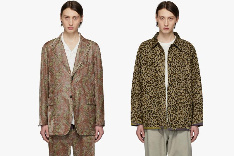 NEEDLES Spring Summer 2019 Release SSENSE Collection T shirt Track Jacket Pants Coat Robe Hat Scarf buy store track pants jacket shirt set butterfly paint splatter release
