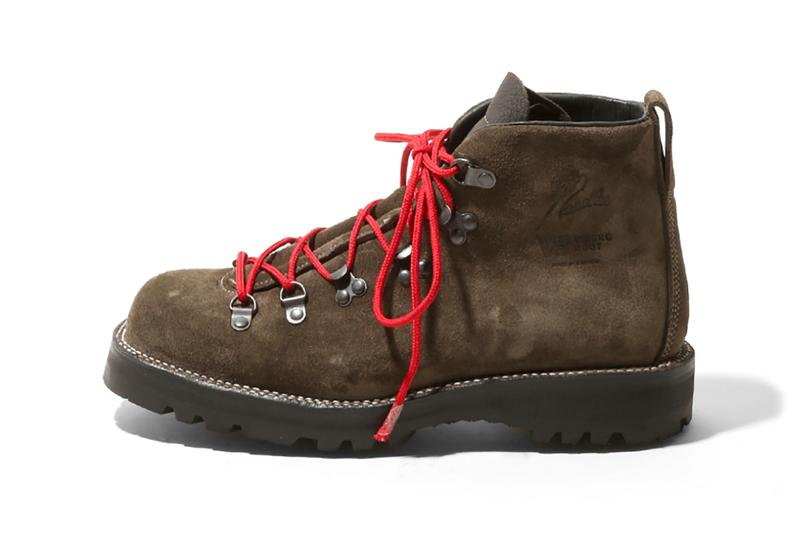 Needles x Viberg Spring Summer 2019 SS19 Roper Boot Hiker Boots black olive brown colorways Nepenthes Boutiques Worldwide Shop Drop Date Information Release Hiking Collaboration Collection