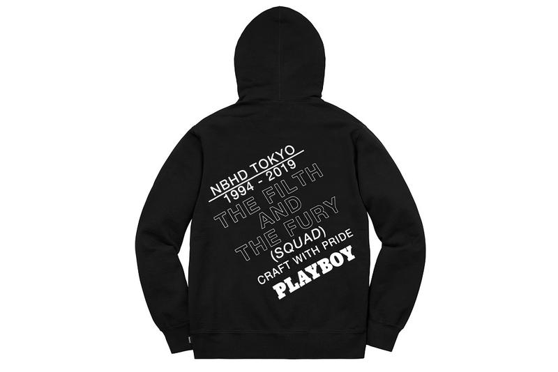 Neighborhood Playboy White Label hoodie t shirt collab tee graphic bunny black info details release date buy price 2019 socks hat sweater sweatshirt collaboration